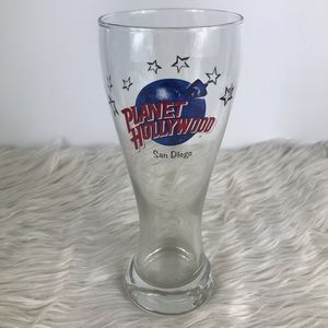 Planet Hollywood San Diego tall beer Pilsner glass